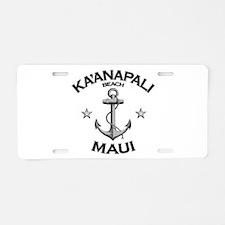 Ka'anapali Beach, Maui Aluminum License Plate