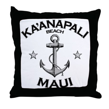 Ka'anapali Beach, Maui Throw Pillow