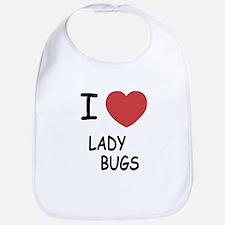 I heart ladybugs Bib