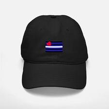 Leather Flag Baseball Hat
