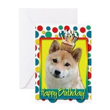 Birthday Cupcake - Shiba Inu Greeting Card