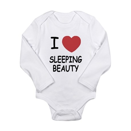 I heart sleeping beauty Long Sleeve Infant Bodysui