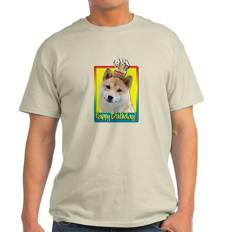 Birthday Cupcake - Shiba Inu Light T-Shirt