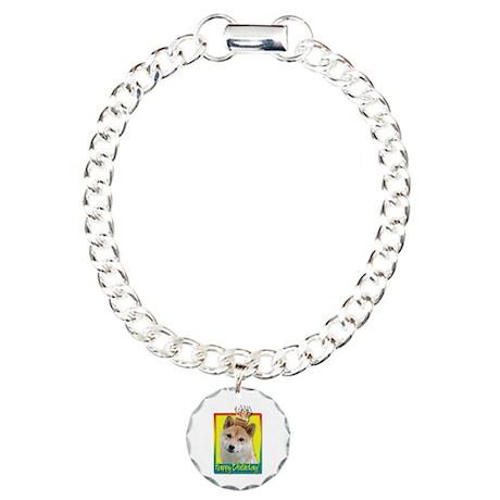 Birthday Cupcake - Shiba Inu Charm Bracelet, One C