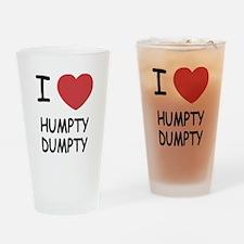 I heart humpty dumpty Drinking Glass