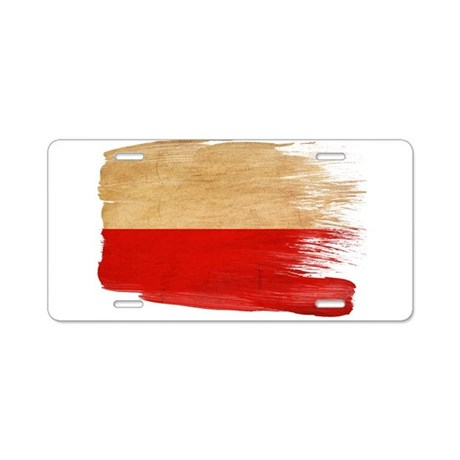 Poland Flag Aluminum License Plate