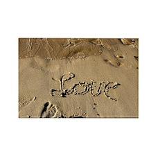 Unique Footprints sand Rectangle Magnet