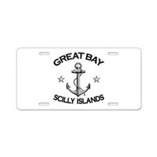 Great Bay, Scilly Islands Aluminum License Plate