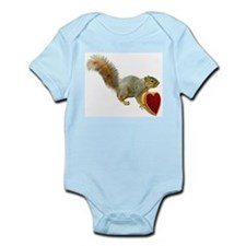 Squirrel with Candy Box Infant Bodysuit