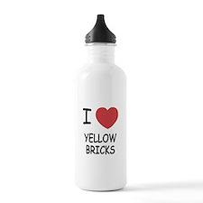 I heart yellow bricks Water Bottle