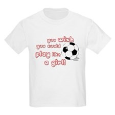 Play Soccer Like a Girl Kids T-Shirt