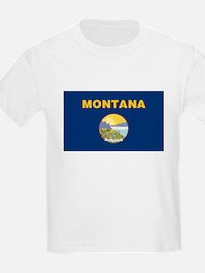 Montana Treasure State Flag Kids' T-Shirt