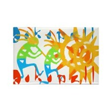 Colorful Kokopelli Rectangle Magnet (10 pack)
