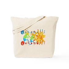 Colorful Kokopelli Tote Bag