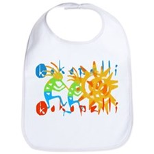 Colorful Kokopelli Bib