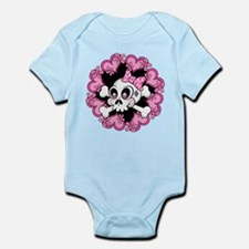 Cute Skull and Hearts Infant Bodysuit