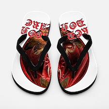 Dragon Don't Care Flip Flops
