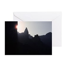 Superstition Mountains, Sunrise Greeting Cards