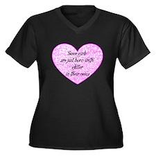 Girl Glitter Women's Plus Size V-Neck Dark T-Shirt
