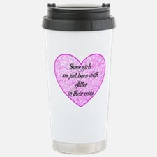 Girl Glitter Stainless Steel Travel Mug