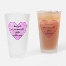 Girl Glitter Drinking Glass