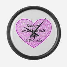 Girl Glitter Large Wall Clock