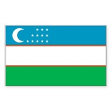 Uzbekistan Rectangle Decal