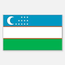 Uzbekistan Rectangle Decal