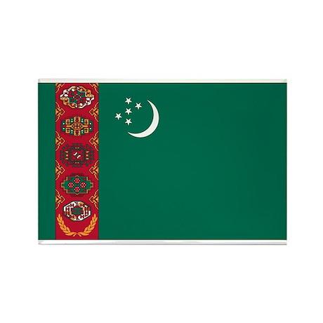 Turkmenistan Rectangle Magnet