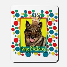Birthday Cupcake - Vallhund Mousepad
