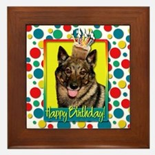 Birthday Cupcake - Vallhund Framed Tile