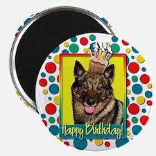 Birthday Cupcake - Vallhund Magnet