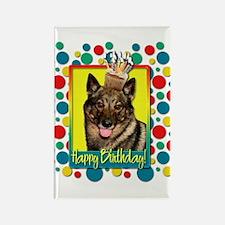 Birthday Cupcake - Vallhund Rectangle Magnet