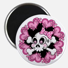 Cute Skull and Hearts Magnet