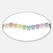 Rainbow Wave Sticker (Oval)