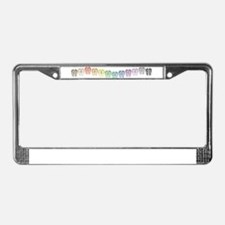 Rainbow Wave License Plate Frame