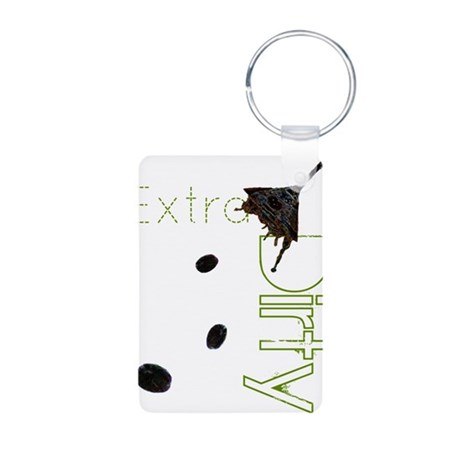 Extra Dirty Aluminum Photo Keychain