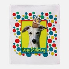 Birthday Cupcake - Whippet Throw Blanket