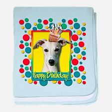 Birthday Cupcake - Whippet baby blanket