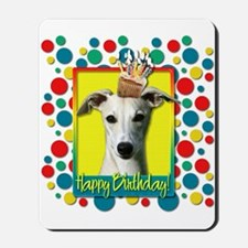 Birthday Cupcake - Whippet Mousepad