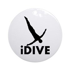 iDive Diving Ornament (Round)