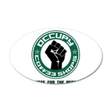 Occupy Coffee Shops 22x14 Oval Wall Peel