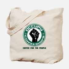 Occupy Coffee Shops Tote Bag