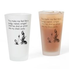 Cupid's Arrow Drinking Glass