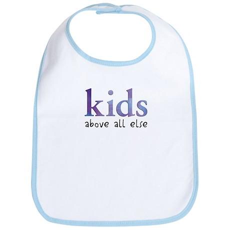 Kids Above All Else Bib
