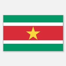 Suriname Rectangle Decal