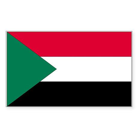 Sudan Rectangle Sticker