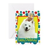 American eskimo birthday Greeting Cards (10 Pack)