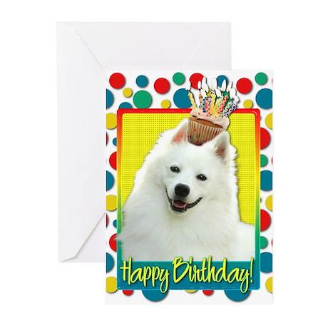 Birthday Cupcake - Eskie Greeting Cards (Pk of 20)