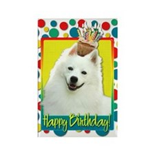 Birthday Cupcake - Eskie Rectangle Magnet (10 pack